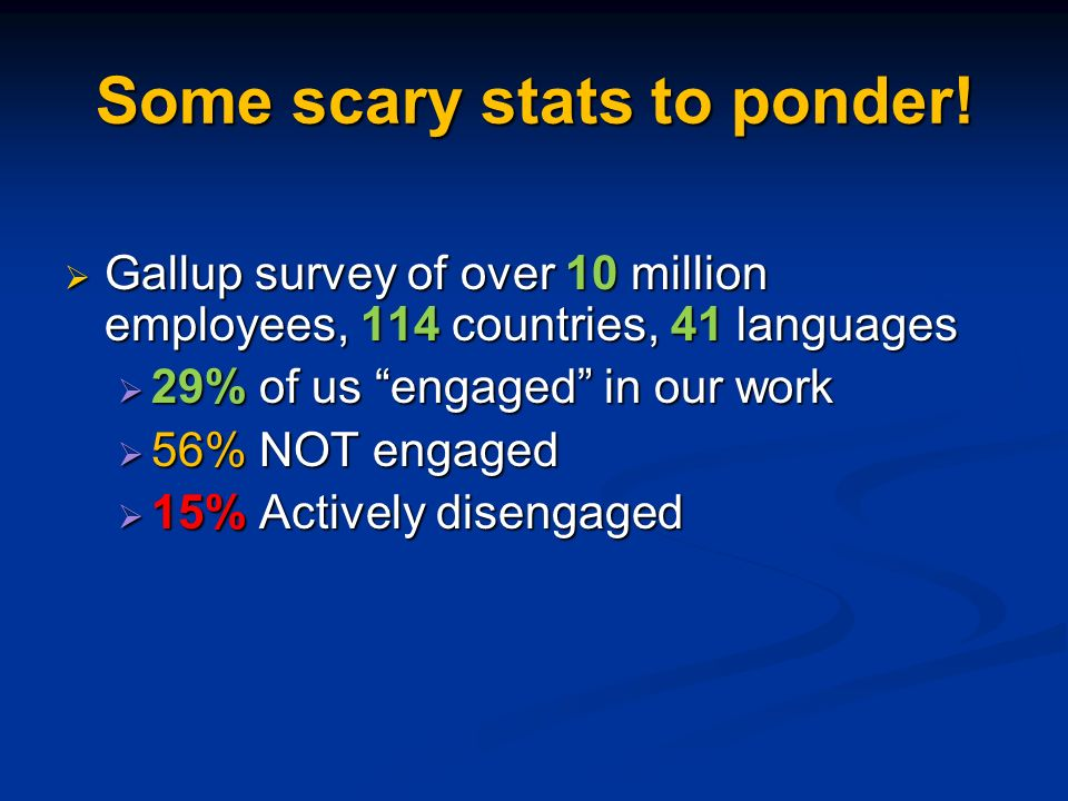 Some scary stats to ponder.