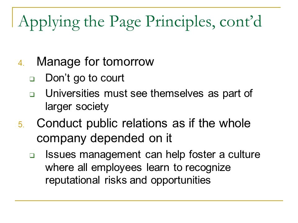 Applying the Page Principles, contd 4.