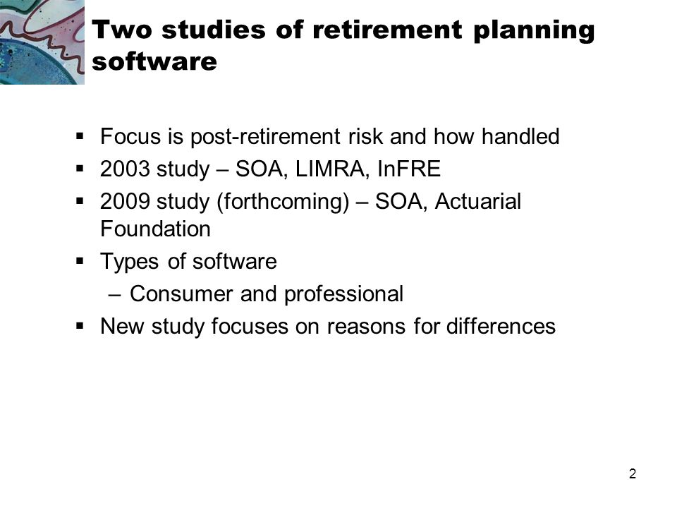 1 Agenda Context and background Results of 2003 study: Sondergeld et al Results of 2009 study: Turner and Witte