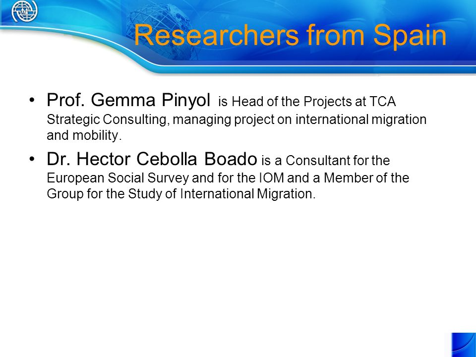 Researchers from Spain Prof.
