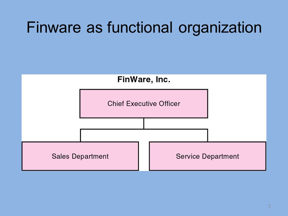 Finware as functional organization 5
