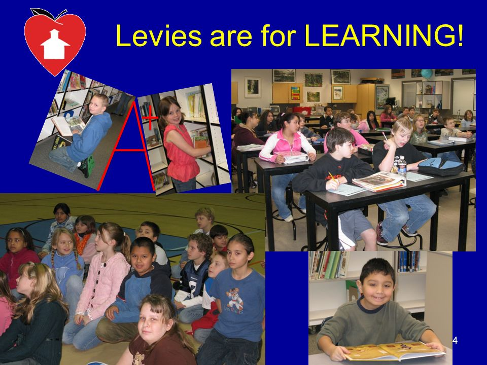 Levies are for LEARNING! 4
