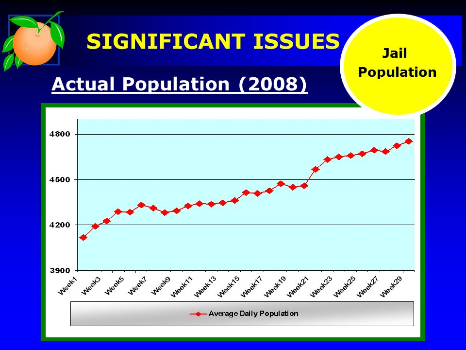 Actual Population (2008) Jail Population Jail Population SIGNIFICANT ISSUES