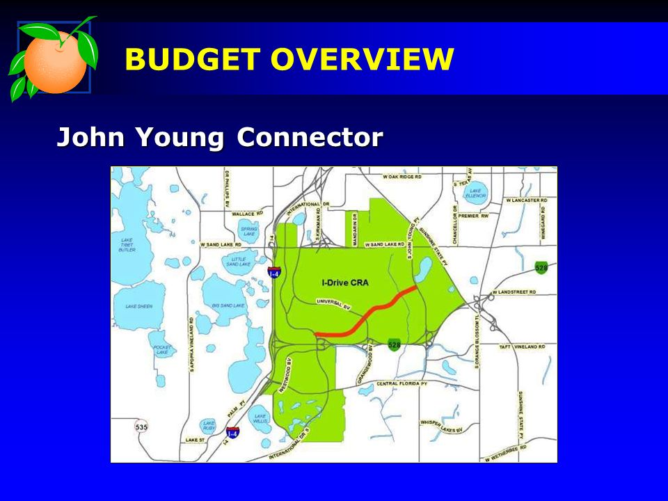 John Young Connector BUDGET OVERVIEW