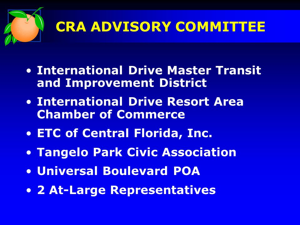 International Drive Master Transit and Improvement District International Drive Resort Area Chamber of Commerce ETC of Central Florida, Inc.