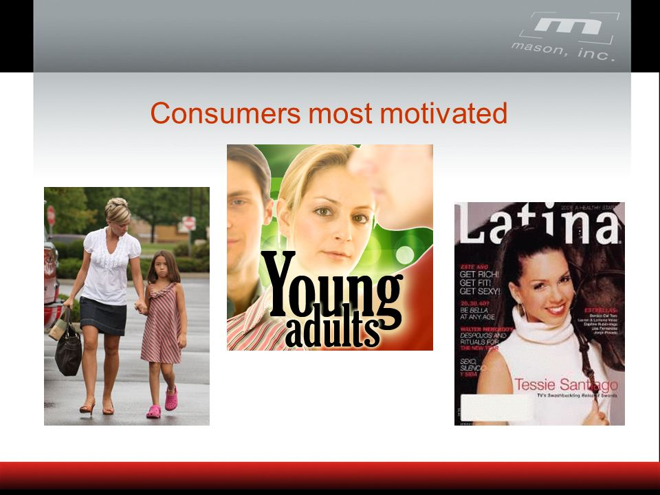 Consumers most motivated