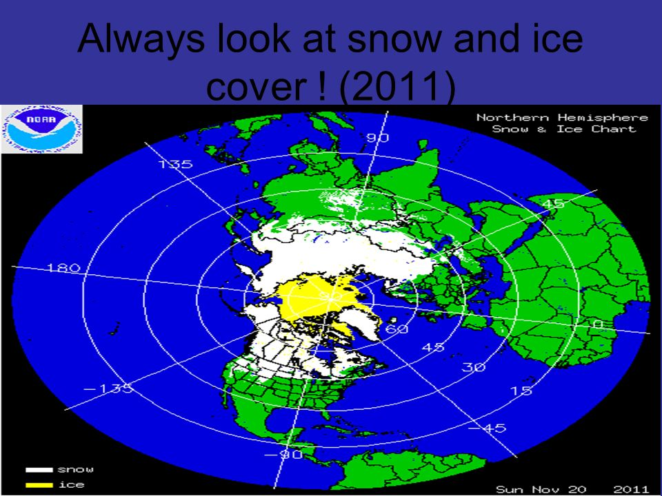 Always look at snow and ice cover ! (2011)