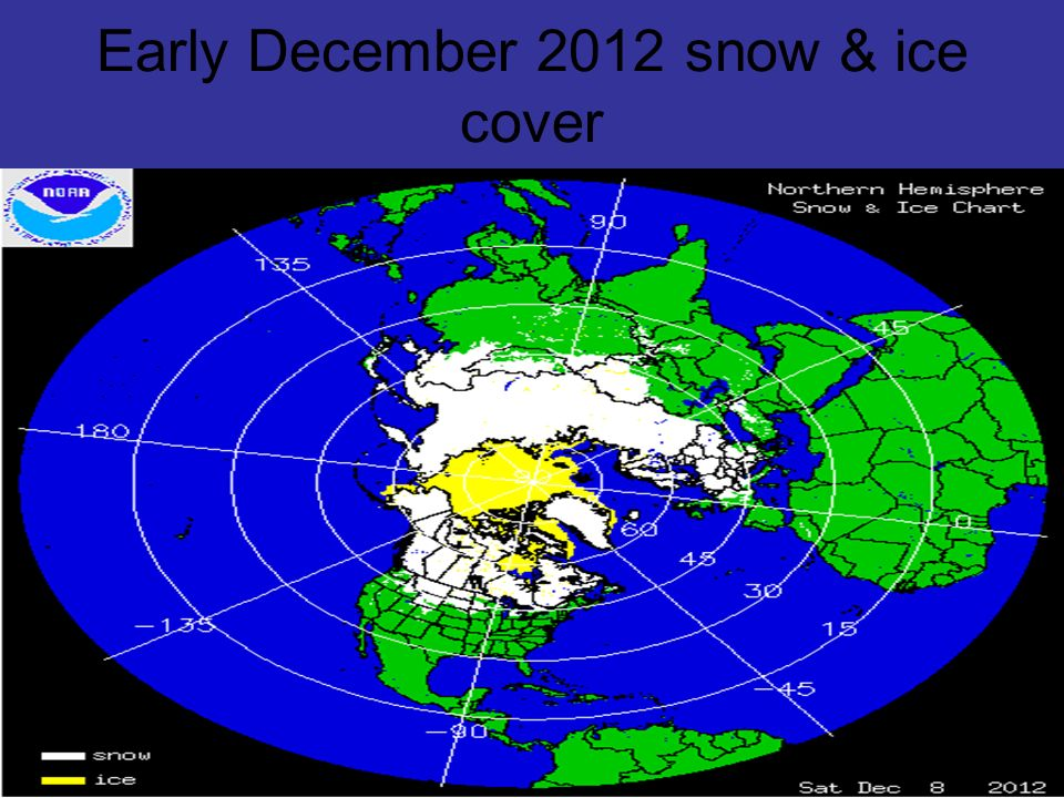 Early December 2012 snow & ice cover