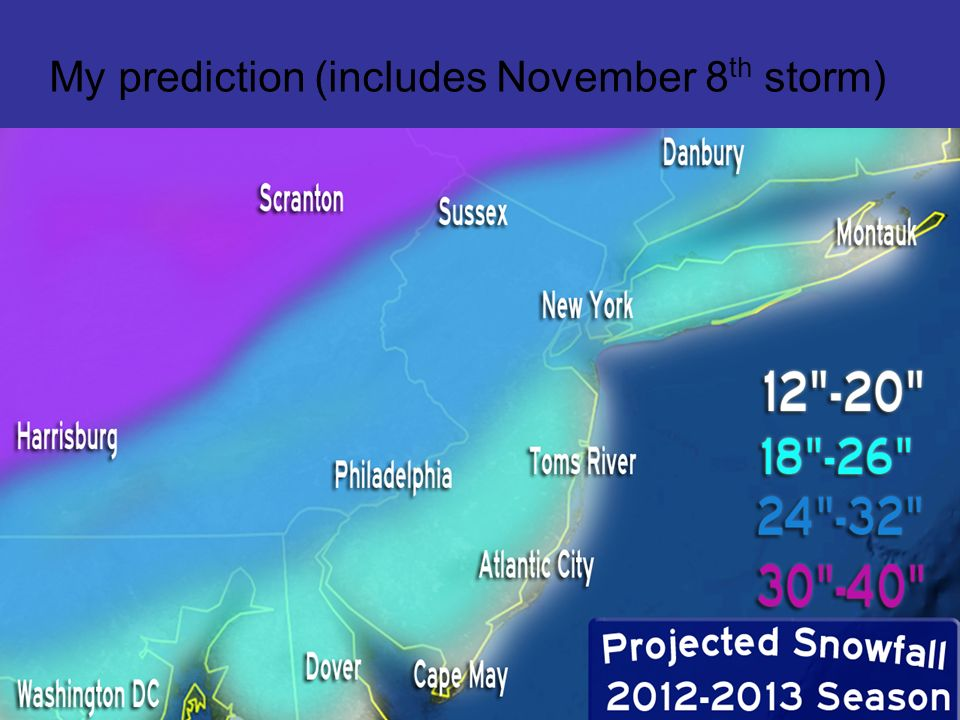 My prediction (includes November 8 th storm)
