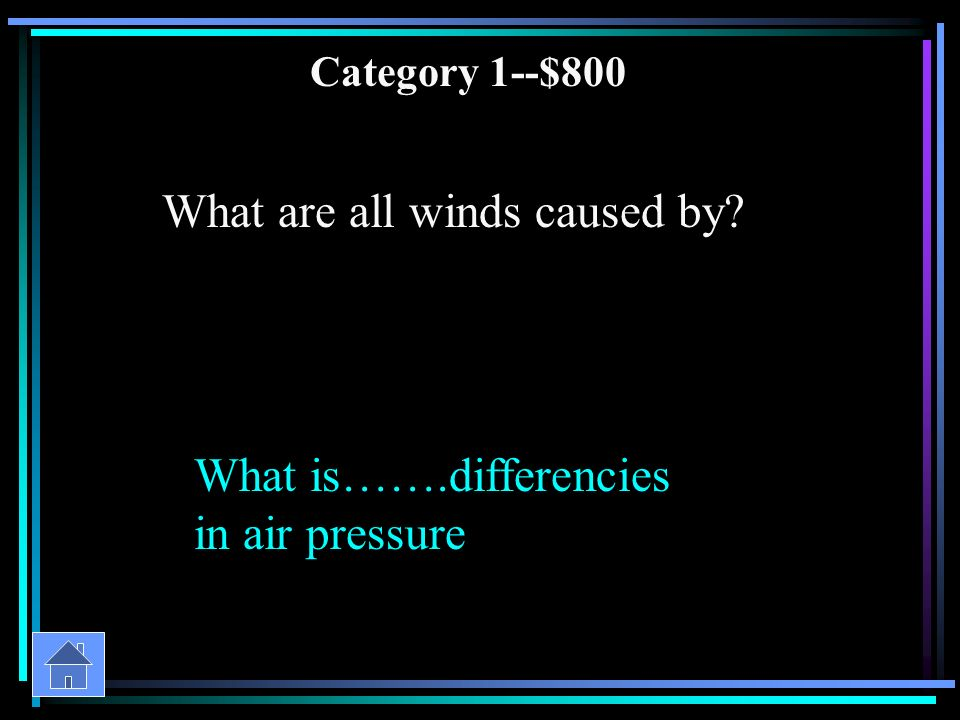 Category 1--$600 Why do sea breezes occur.