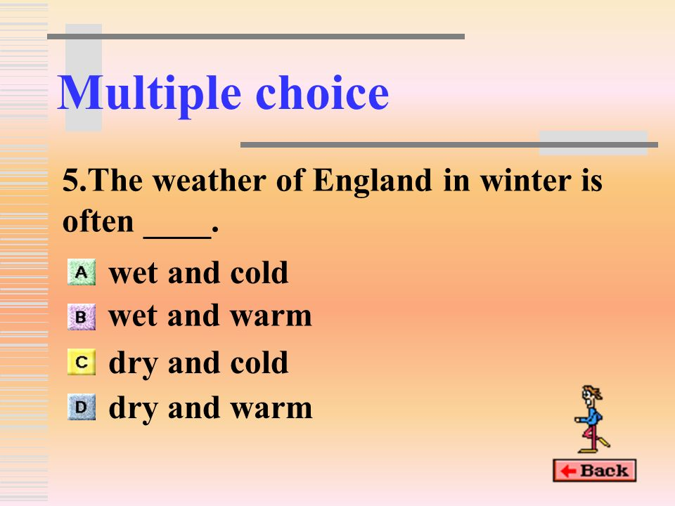Multiple choice 4.The wind was so strong that the speed of it is up to ____.