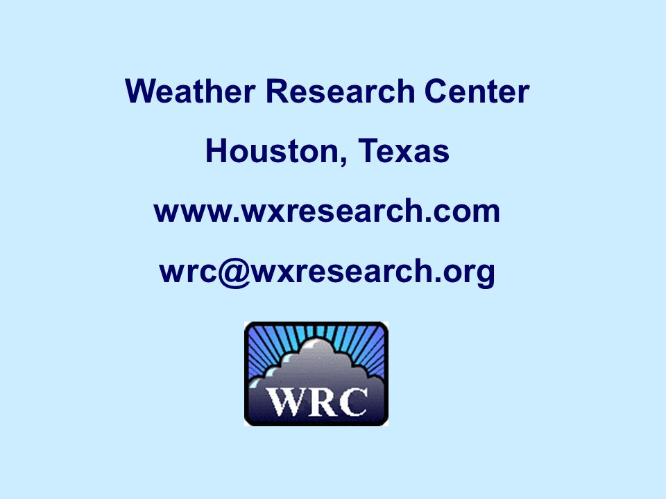Weather Research Center Houston, Texas