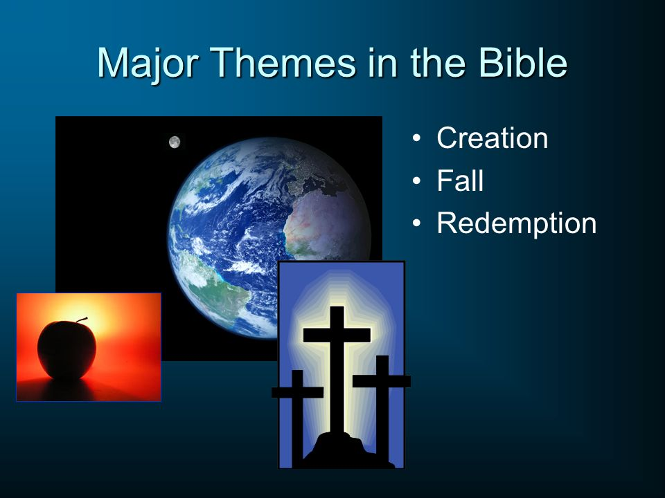 Major Themes in the Bible Creation Fall Redemption