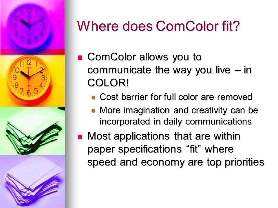 Where does ComColor fit. ComColor allows you to communicate the way you live – in COLOR.