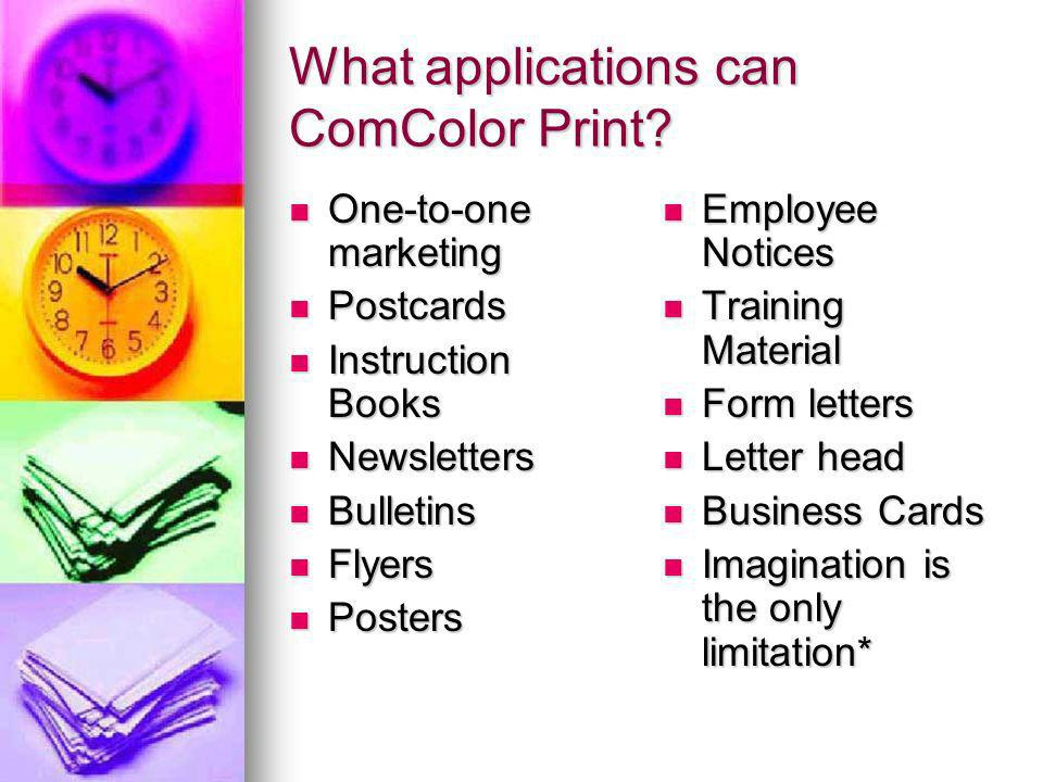 What applications can ComColor Print.