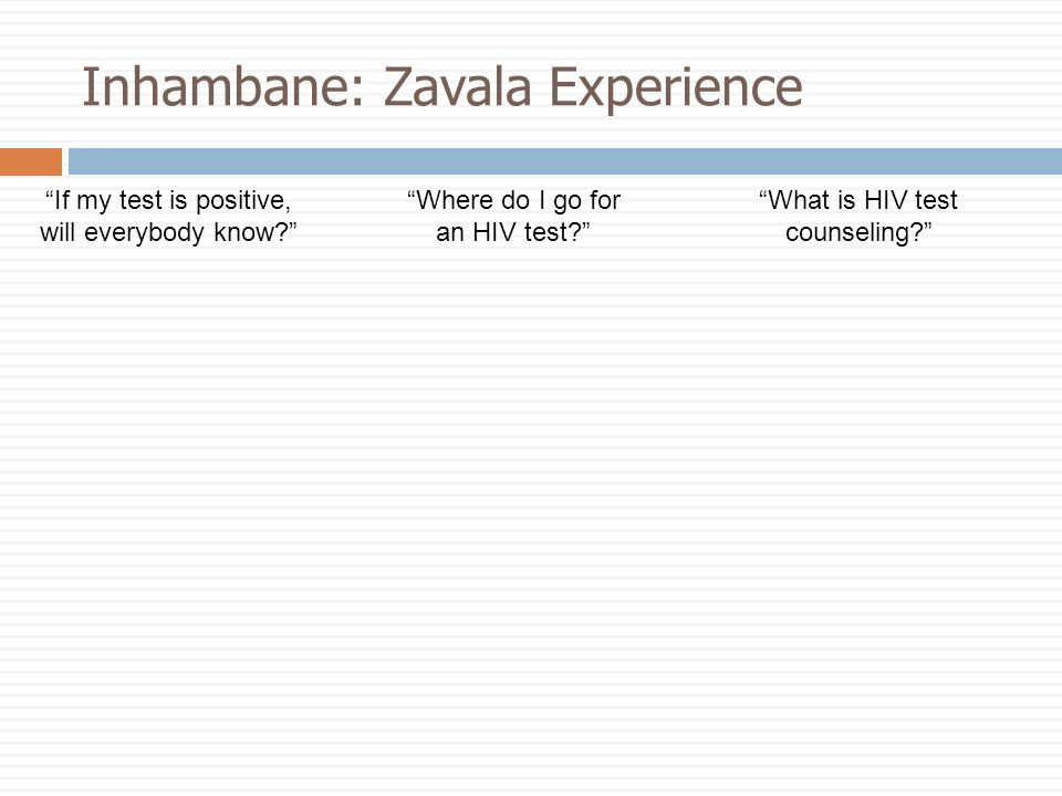 Inhambane: Zavala Experience If my test is positive, will everybody know.