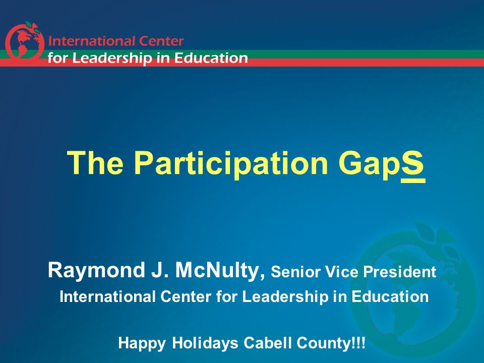 The Participation Gap s Raymond J.