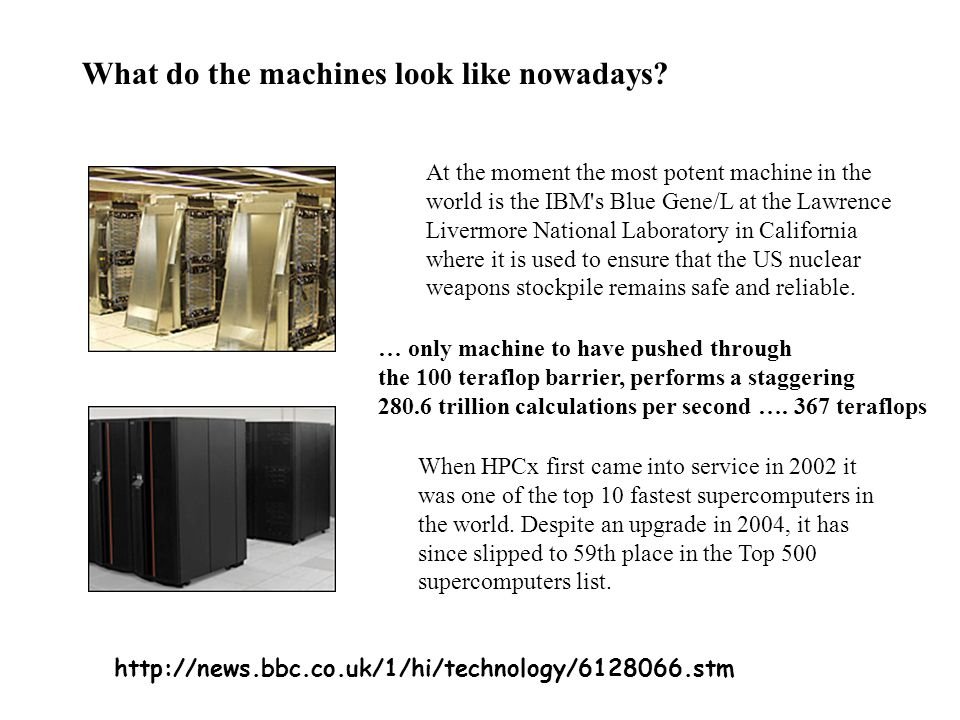 What do the machines look like nowadays.