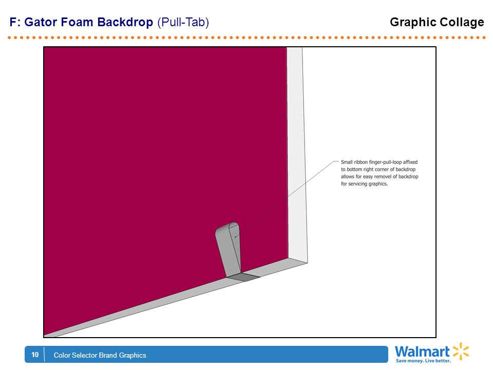 10 Color Selector Brand Graphics F: Gator Foam Backdrop (Pull-Tab) Graphic Collage