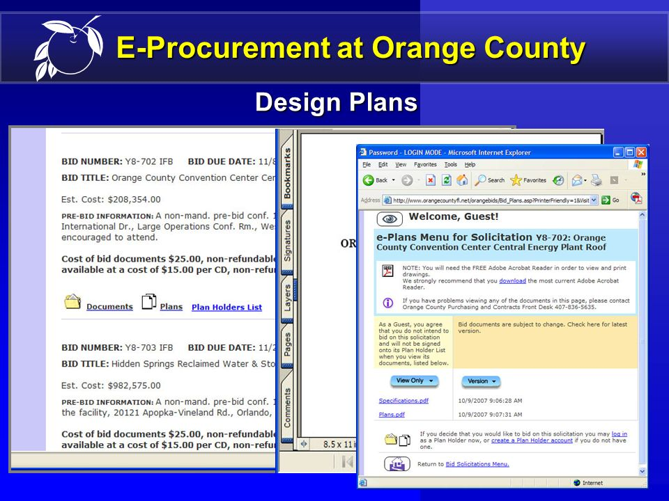 15 E-Procurement at Orange County Bid Opportunities