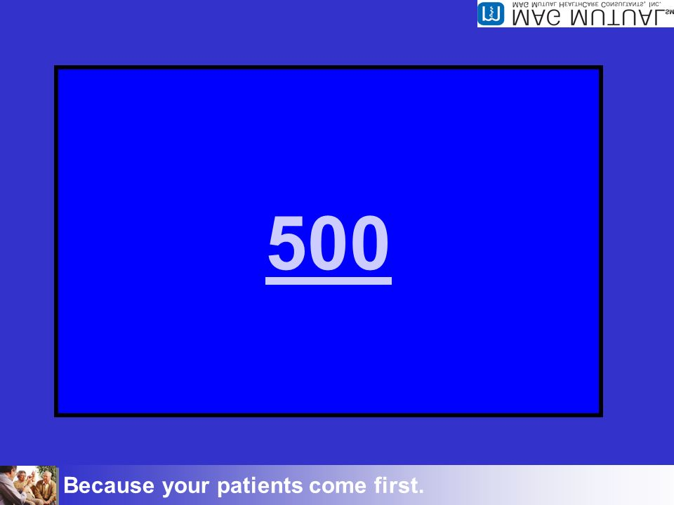 Because your patients come first. Inpatient 500 This is the proper way to code when Dr.