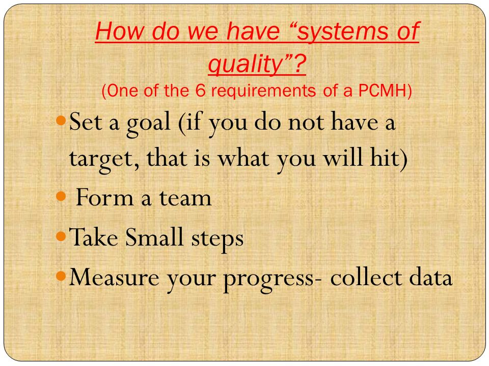How do we have systems of quality.