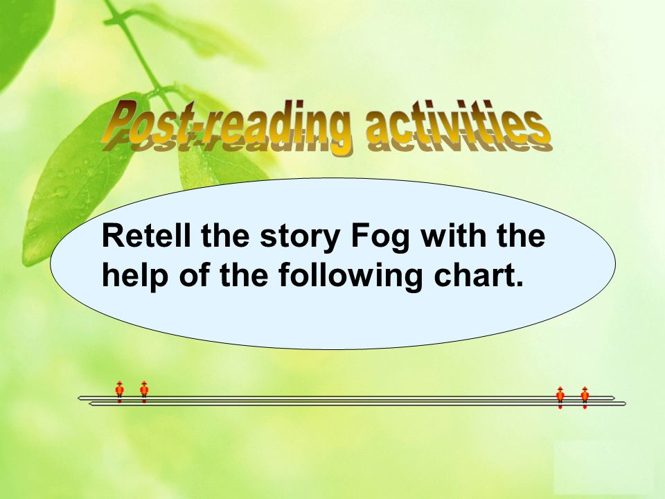 Retell the story Fog with the help of the following chart.