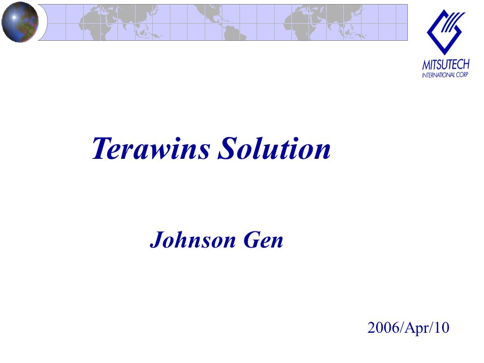 Terawins Solution Johnson Gen 2006/Apr/10