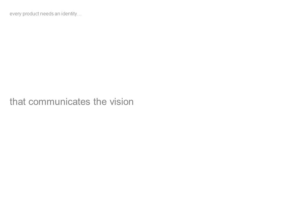 that communicates the vision