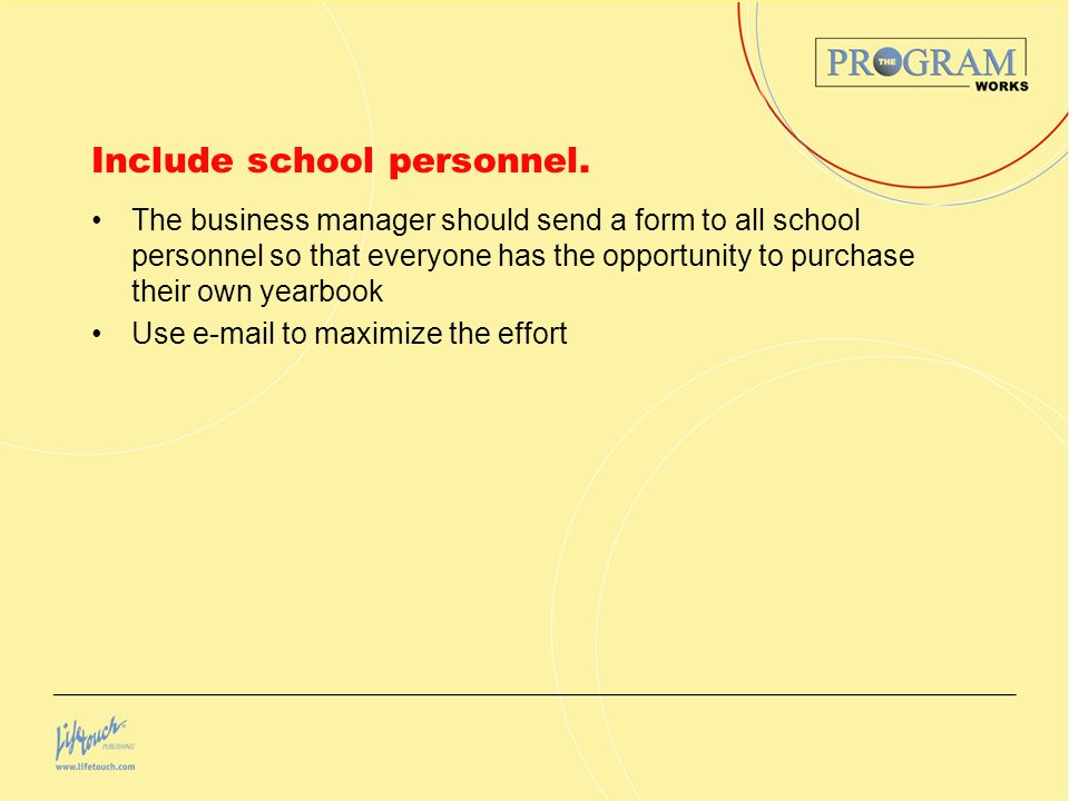 Include school personnel.