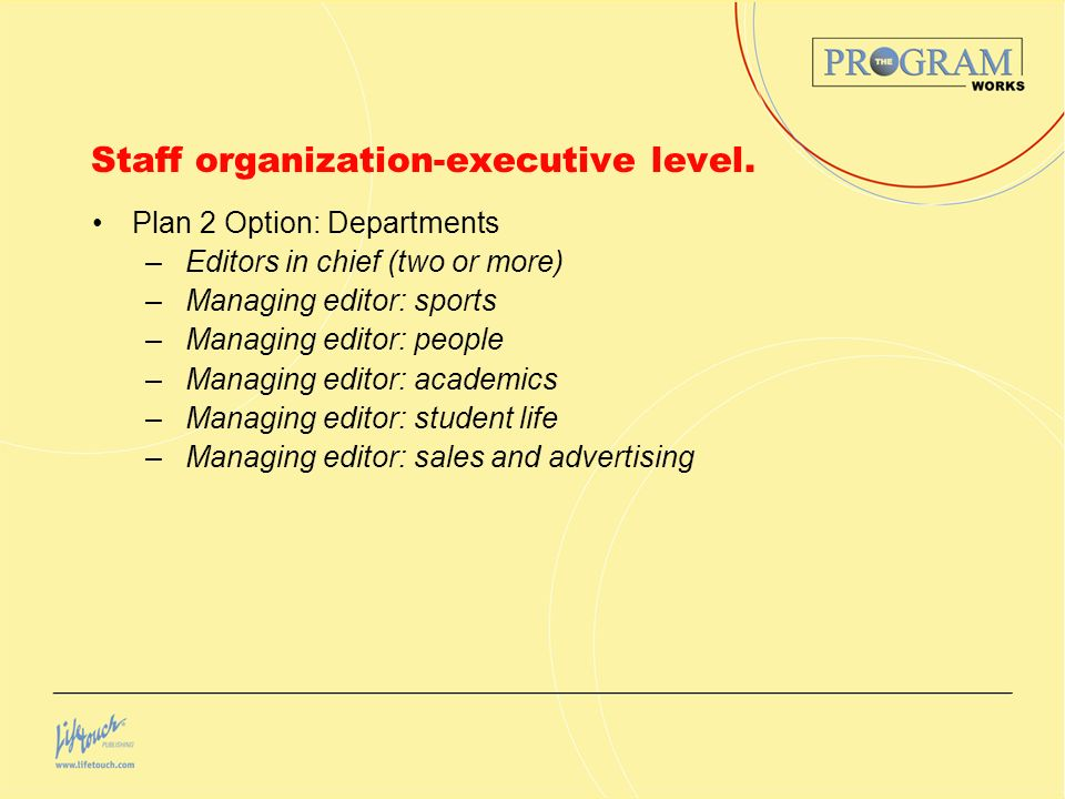 Staff organization-executive level.