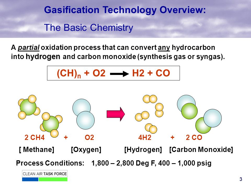 3 hydrogen A partial oxidation process that can convert any hydrocarbon into hydrogen and carbon monoxide (synthesis gas or syngas).