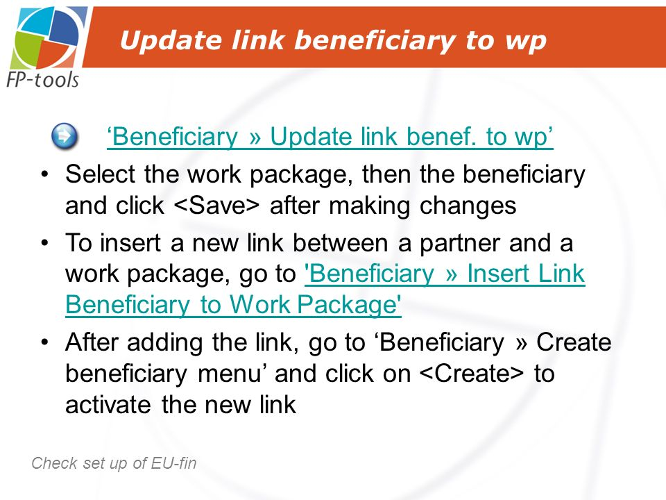 Update link beneficiary to wp Beneficiary » Update link benef.