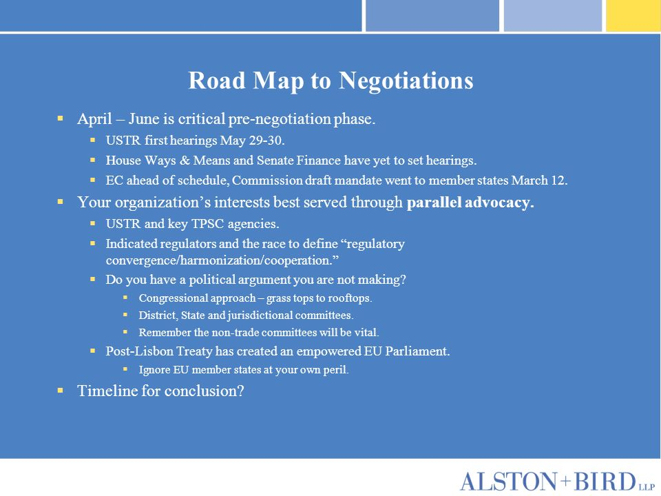Privileged Attorney-Client Communication Road Map to Negotiations April – June is critical pre-negotiation phase.