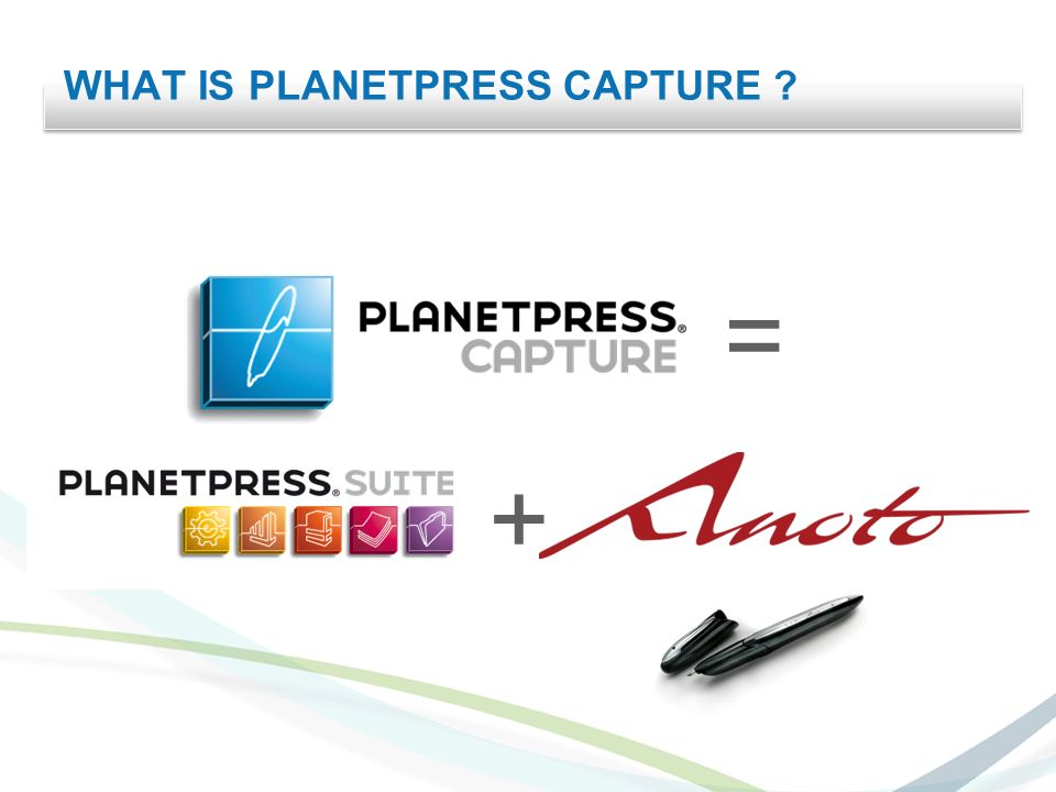 WHAT IS PLANETPRESS CAPTURE + =