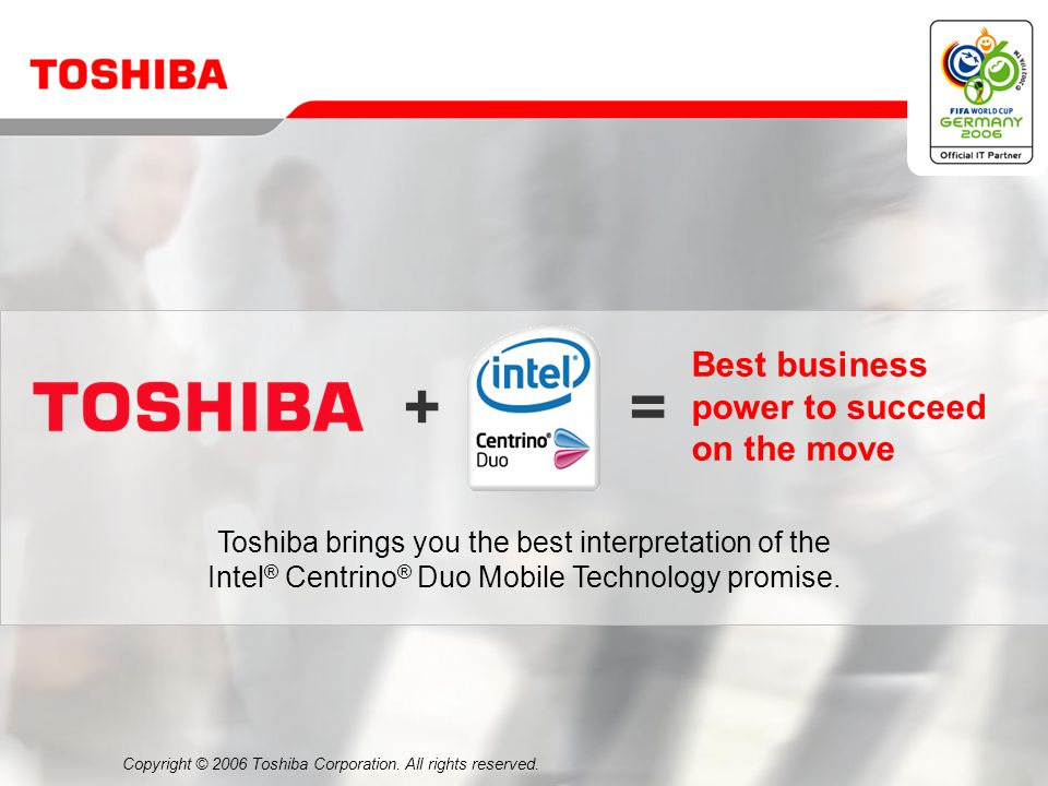 Copyright © 2006 Toshiba Corporation. All rights reserved.