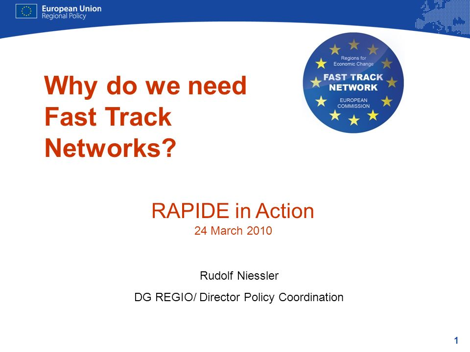1 Why do we need Fast Track Networks.