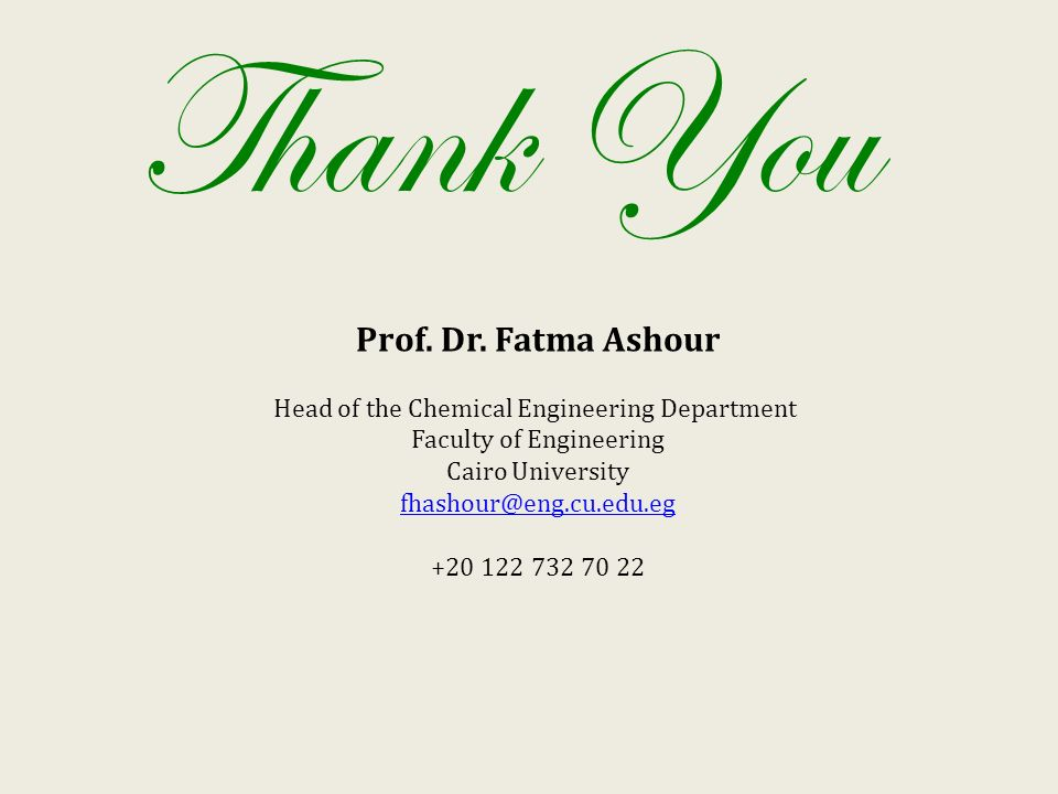 Thank You Prof. Dr.