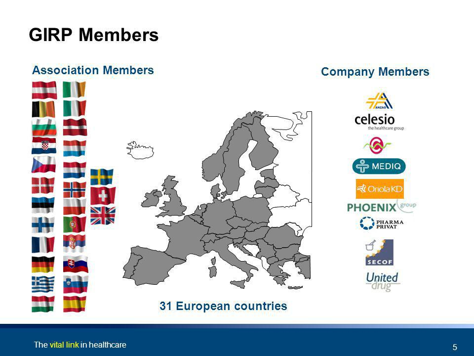 The vital link in healthcare 5 GIRP Members Association Members Company Members 31 European countries