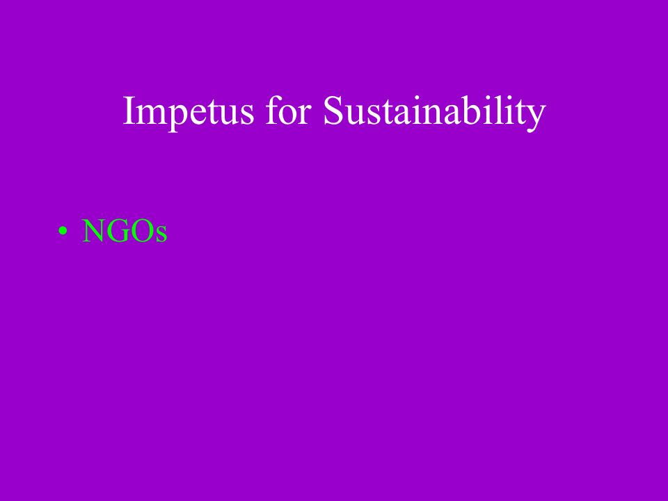 Impetus for Sustainability NGOs