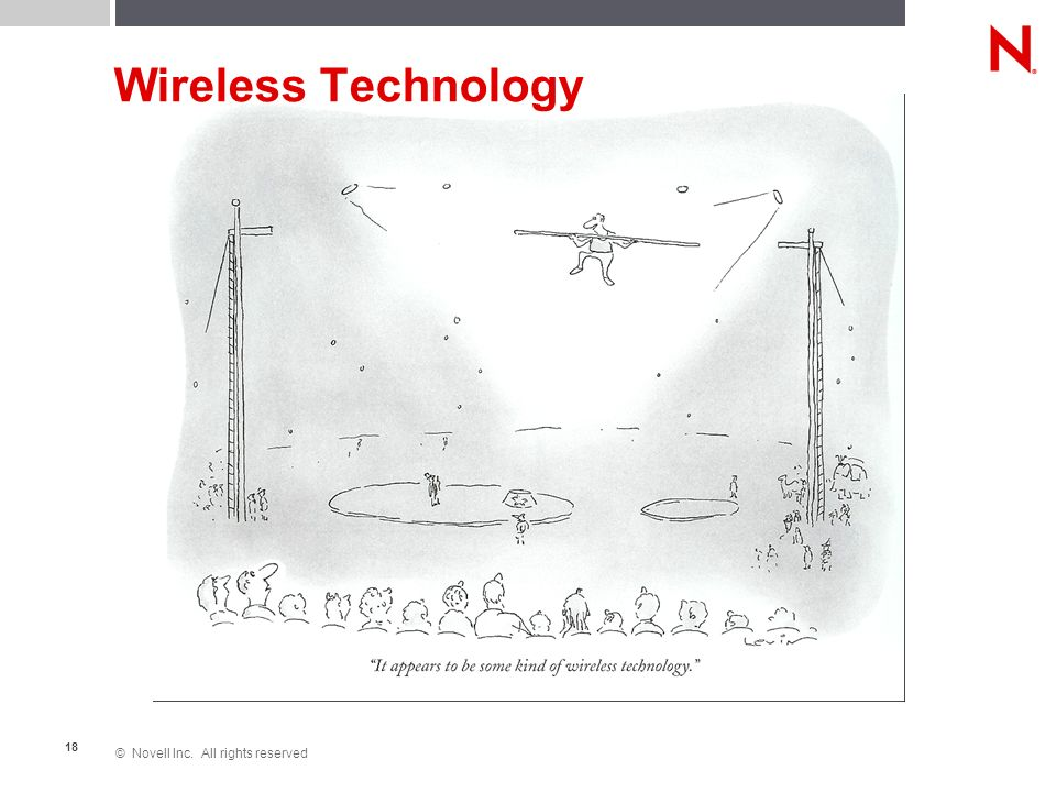 © Novell Inc. All rights reserved 18 Wireless Technology