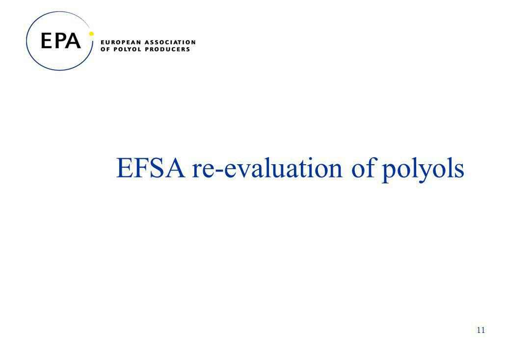 11 EFSA re-evaluation of polyols