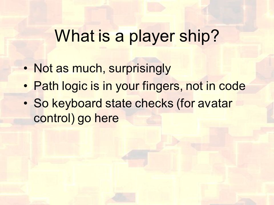 What is a player ship.