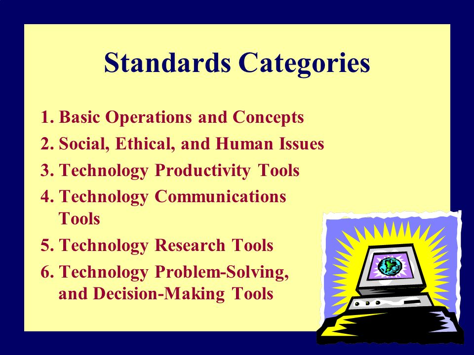 Standards Categories 1. Basic Operations and Concepts 2.