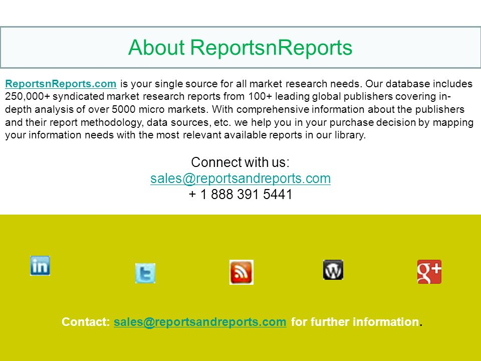 ReportsnReports.comReportsnReports.com is your single source for all market research needs.