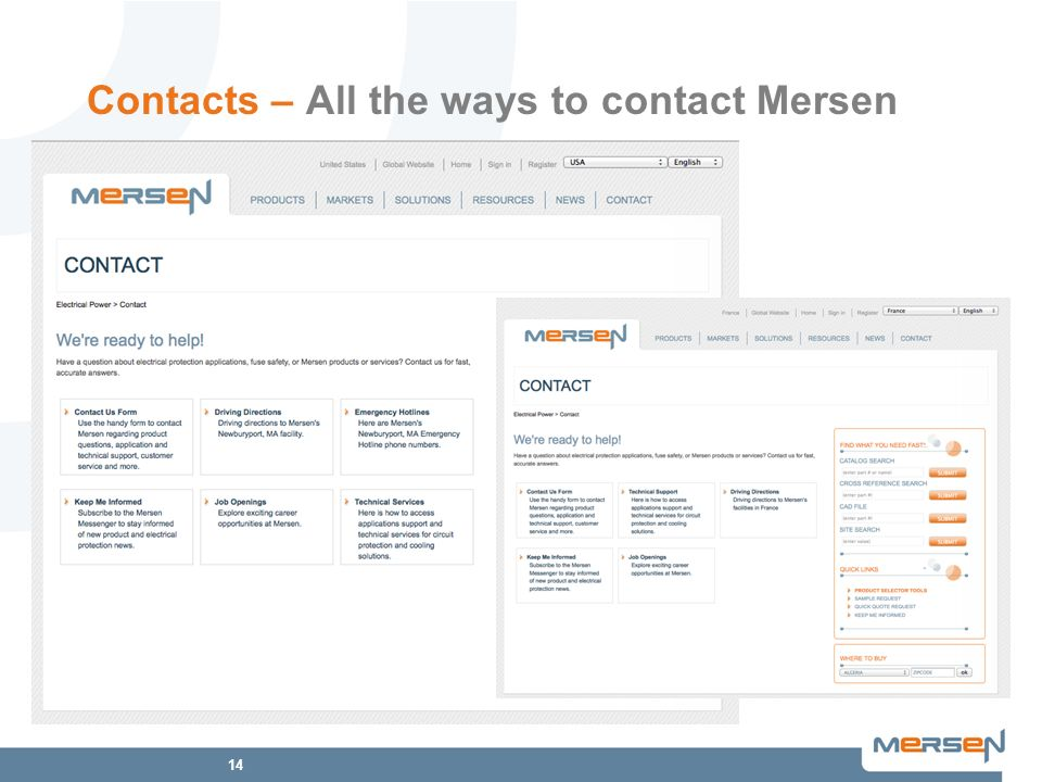 14 Contacts – All the ways to contact Mersen