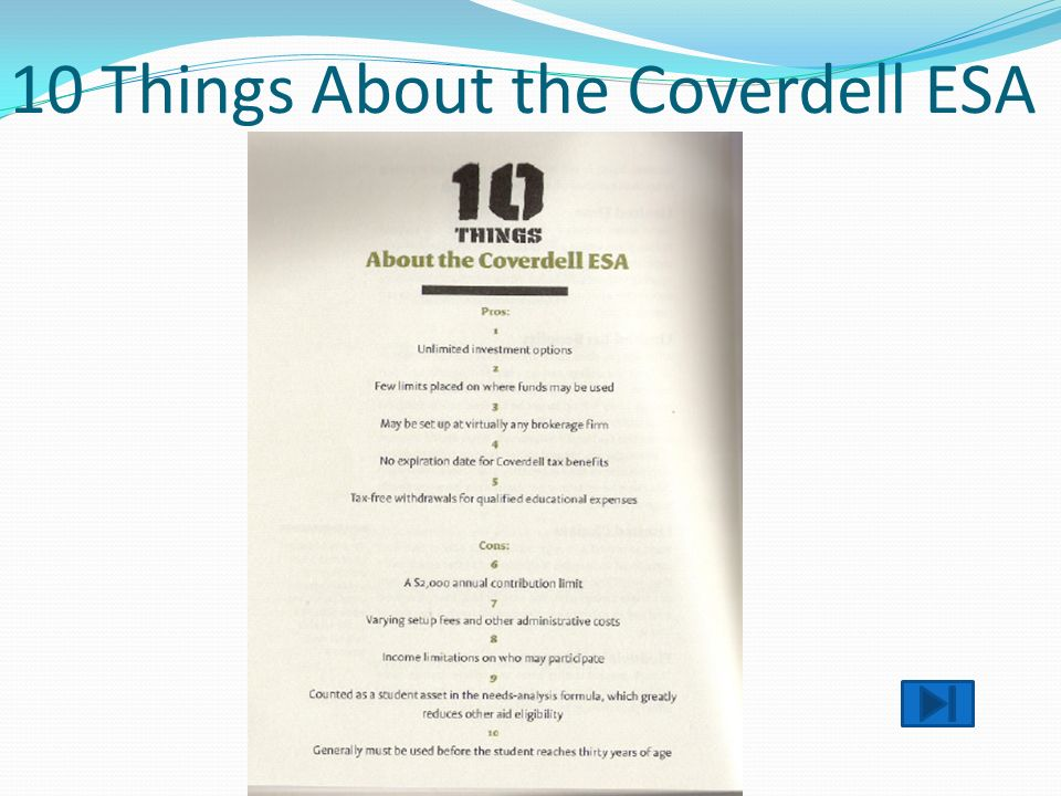 10 Things About the Coverdell ESA