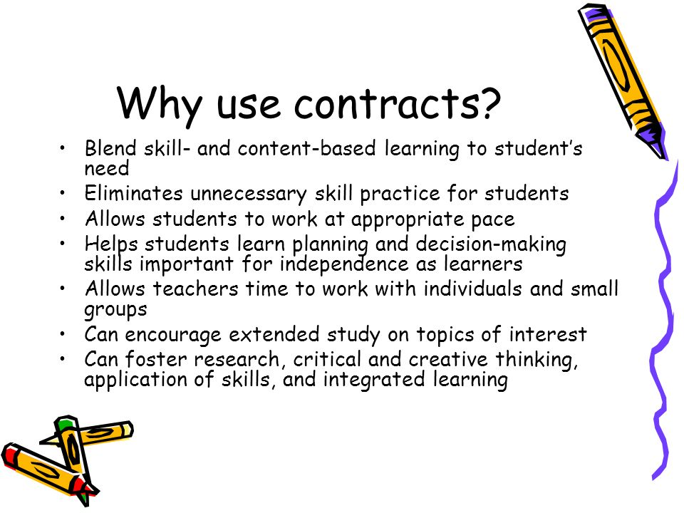 Why use contracts.