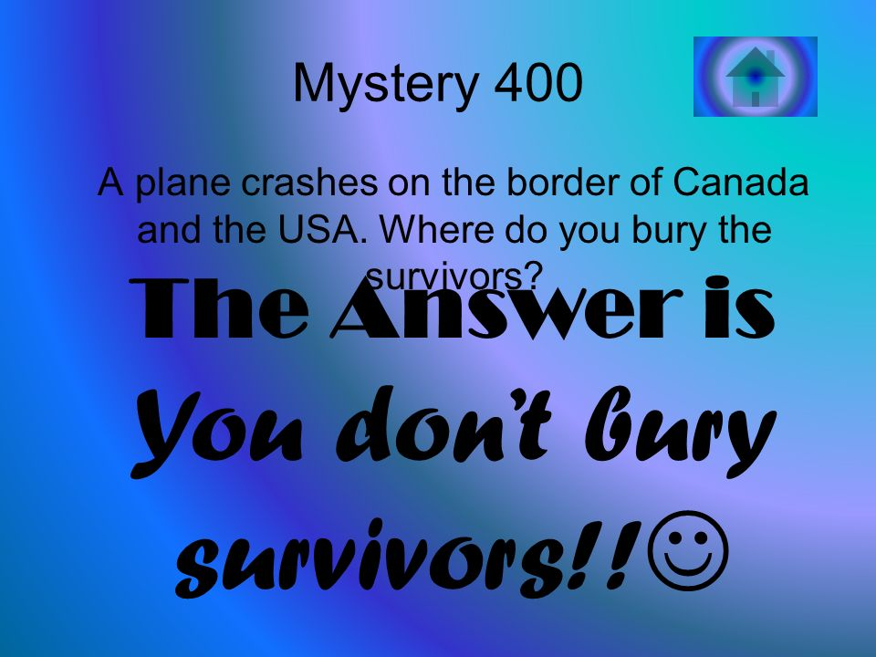 Mystery 400 A plane crashes on the border of Canada and the USA.