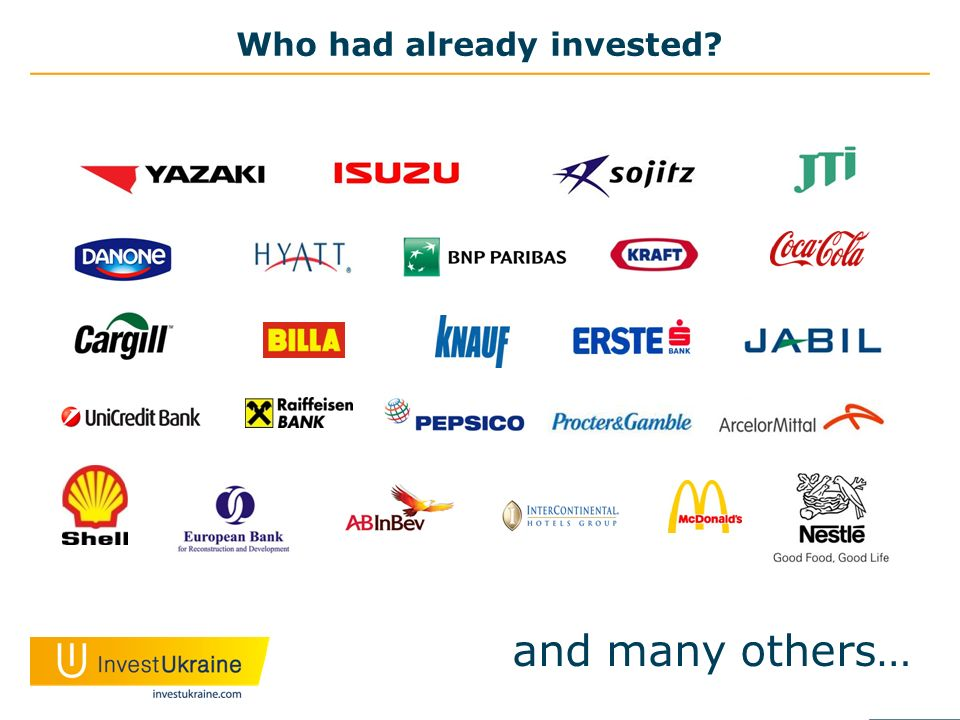 Who had already invested and many others…